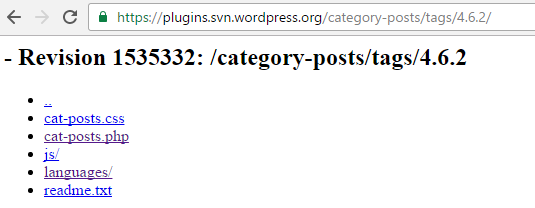 ... or you can find the PlugIn slug with the widget repository name, e.g. 'category-posts'.