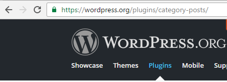 The PlugIn slug is the widget Url path, e.g. 'category-posts'.